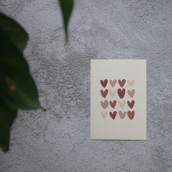 hearts card, hartjes kaart