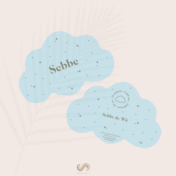 Predesigned kaartje wolk
